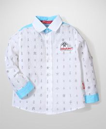 Kidsplanet Robot Print Shirt - Blue