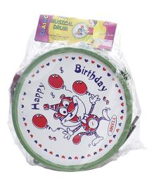 Luvely Drum Musical Drum Toy - Green and White