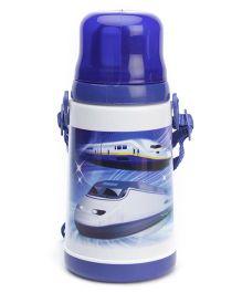 Water Bottle Bullet Train Print Royal Blue - Water Bottle Bullet Train Print Red - 450 ml