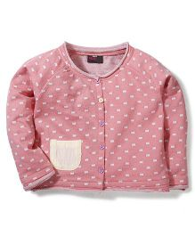 Hallo Heidi Rectangle Print Tee With Pocket - Coral Pink