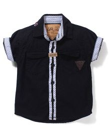 Little Kangaroos Half Sleeves Shirt - Black