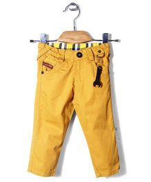 Little Kangaroos Full Length Plain Trouser - Yellow