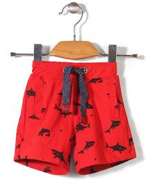 Little Kangaroos Shorts With Drawstring - Red