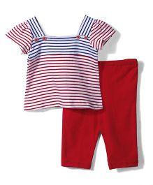 Childhood Leggings & Top Set - Red