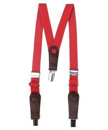 Hallo Heidi Suspender Belt - Red