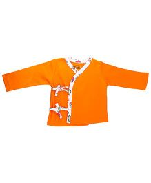Kidsmode Full Sleeves Organic Cotton Jhabla - Orange
