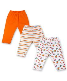 Kidsmode Organic Cotton Leggings Pack of 3 - Multicolour