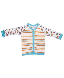 Kidsmode Organic Cotton Contrast Neckline Vest - Multicolour