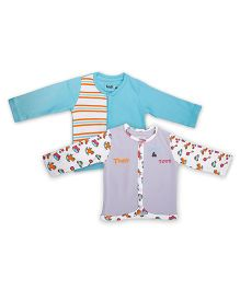 Kidsmode Organic Cotton Vest Pack of 2 - Multicolour