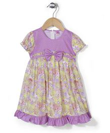 De Berry Flower Print Dress - Purple