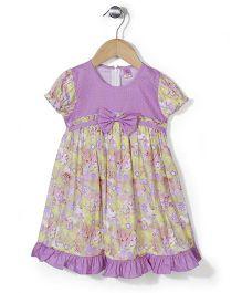 De Berry Flower Print Dress - Purple