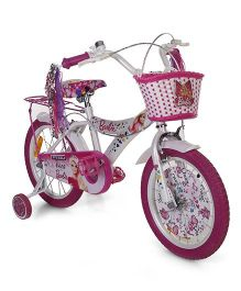 Barbie Cycle White And Pink - 16 inches