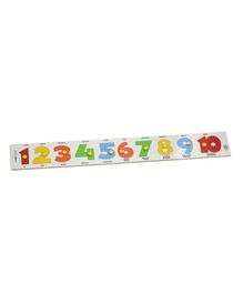 Skillofun - Wooden Number Strip Puzzle 1 to 10
