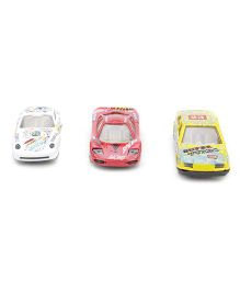 Playmate Toy Cars Set of 3 - White Red Yellow