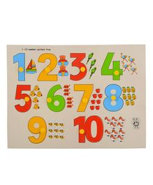 Skillofun Wooden Number with Picture Tray 1 to 10