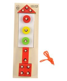 Skillofun Wooden Traffic Light Shape Sorting Board