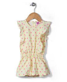 De Berry Dot Print Jumpsuit - Yellow