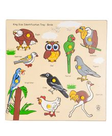 Skillofun - King Size Identification Wooden Tray Birds