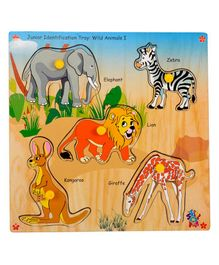 Skillofun Junior Identification Wooden Tray Wild Animals