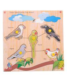 Skillofun - Junior Identification Wooden Tray Birds I