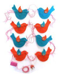 Fairytales Fairylights With Birds - Blue & Orange