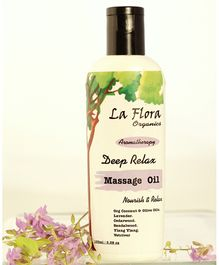 La Flora Organics Deep Relax Massage Oil - 100 ml