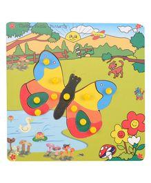 Skillofun - Theme Wooden Puzzle Standard Butterfly