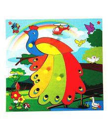 Skillofun - Wooden Theme Puzzle Standard Peacock