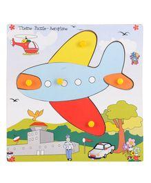 Skillofun - Wooden Theme Puzzle Standard Aeroplane