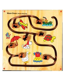 Maze Chase - Wooden Shadow Matching Game