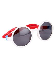 De Berry Round Shape Sunglasses - White