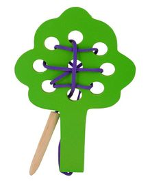 Skillofun Wooden Sewing Toy Tree