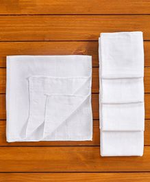 Tinycare Cloth Square Nappy Medium White - Set Of 5
