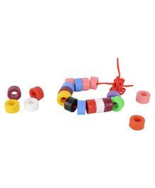 Skillofun - Plastic Wooden Beads Cylindrical