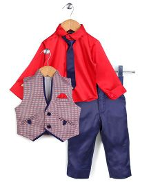 Robo Fry 4 Piece Party Suit - Red And Royal Blue