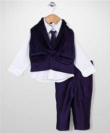 Robo Fry 3 Piece Party Suit With Tie - Violet White