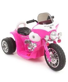 Police Battery Operated Motorbike Ride-On - Pink