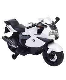 Mee Mee Battery Operated Ride-On Bike White Black - CH 283