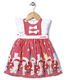 Bebe Wardrobe Bear Print Dress - Red & White