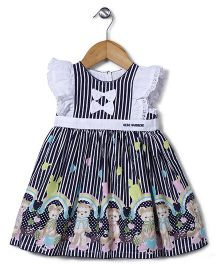 Bebe Wardrobe Bear Print Dress - Navy & White