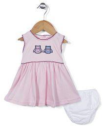 Childhood Frock & Bloomer Set - Pink
