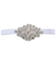 Pikabbo Bethany Beaded Headband - White