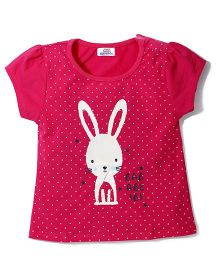 Notty Kid Rabbit Print Top - Pink