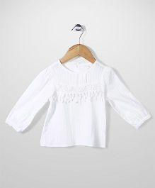 Minikid House Fringe Top - White