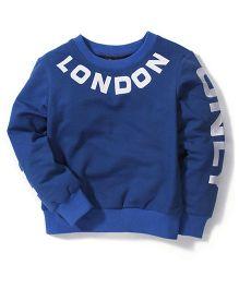 Mini Pink London Print T-Shirt - Blue
