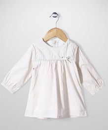 Minikid House Bow Top - White