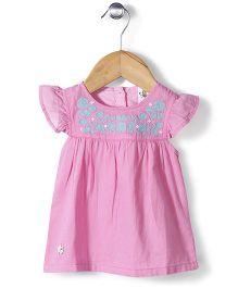 Bee Born Cap Sleeves Dress - Pink