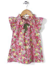Petit CuCu Floral Print Dress - Pink