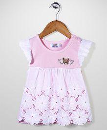 Notty Kid Flower Print Dress - White