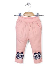 Notty Kid Cat Detailing Track Pant - Peach